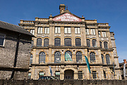 Anglo-Bavarian Brewery building built 1864, Shepton Mallet, Somerset, England, UK now Anglo Trading estate