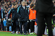 Manuel Pellegrini, the Manchester city manager walks off at the end of the match.Barclays Premier league match, Aston Villa v Manchester city at Villa Park in Birmingham, Midlands  on Sunday 8th November 2015.<br /> pic by  Andrew Orchard, Andrew Orchard sports photography.