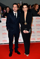 Vicky McClure and Martin Compston attending the National Television Awards 2018 held at the O2 Arena, London.