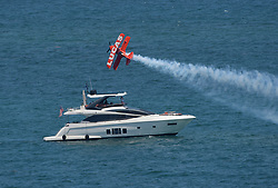 FORT LAUDERDALE, FL - MAY 04: Mike Wiskus in the Lucas Oil Pitts performs in the Fort Lauderdale Air Show on May 4, 2019 in Fort Lauderdale, Florida...People:  Mike Wiskus in the Lucas Oil Pitts. (Credit Image: © SMG via ZUMA Wire)