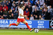 Ramona Bachmann (#10) of Switzerland during the 2019 FIFA Women's World Cup UEFA Qualifier match between Scotland Women and Switzerland at the Simple Digital Arena, St Mirren, Scotland on 30 August 2018.