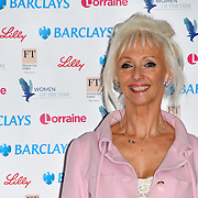 Debbie McGee attends Women of the Year Lunch and Awards at Intercontinental Hotel Park Lane, London, UK. 15 October 2018.