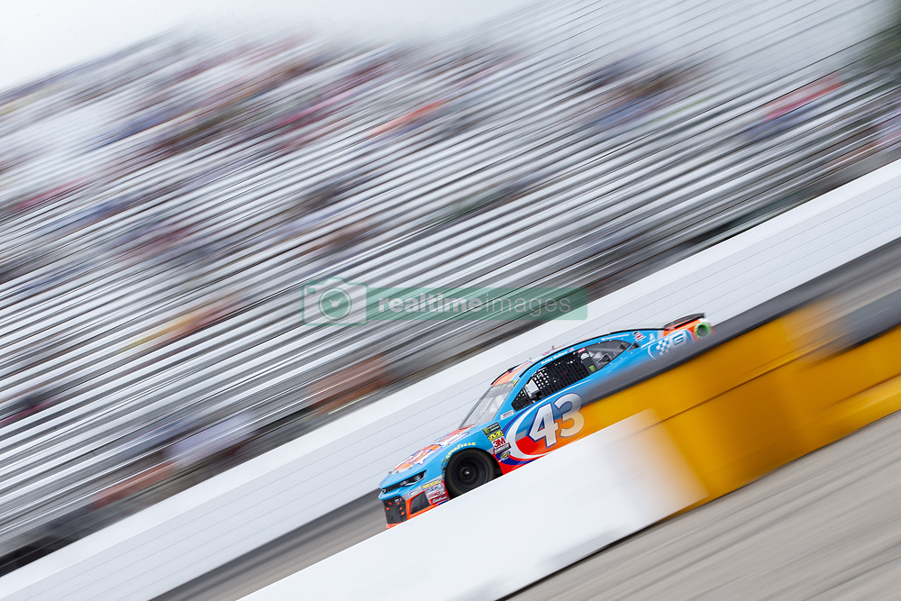 July 22, 2018 - Loudon, New Hampshire, United States of America - Darrell Wallace, Jr (43) races off turn four during the Foxwoods Resort Casino 301 at New Hampshire Motor Speedway in Loudon, New Hampshire. (Credit Image: © Stephen A. Arce/ASP via ZUMA Wire)