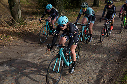 Drops charging across the cobbles at Ronde van Drenthe 2017. A 152 km road race on March 11th 2017, starting and finishing in Hoogeveen, Netherlands. (Photo by Sean Robinson/Velofocus)