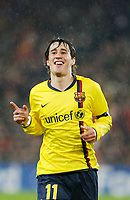 Fotball<br /> UEFA Champions League<br /> Basel v Barcelona<br /> 22.10.2008<br /> Foto: EQ Images/Digitalsport<br /> NORWAY ONLY<br /> <br /> Jubel von Bojan Krkic nach dem Tor zum 0:3