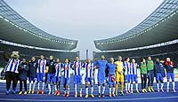Fotball<br /> Tyskland<br /> 25.10.2014<br /> Foto: Witters/Digitalsport<br /> NORWAY ONLY<br /> <br /> Schlussjubel Hertha BSC Berlin<br /> Fussball Bundesliga, Hertha BSC Berlin - Hamburger SV 3:0<br /> Per Ciljan Skjelbred