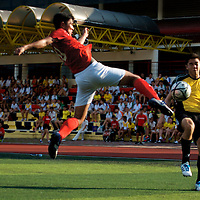 Victoria Junior College, Thursday, May 15, 2014 — Victoria Junior College (VJC) and Anglo-Chinese Junior College (ACJC) drew 1–1 in the second round of the National A Division Football Championship.<br /> <br /> Story: http://www.redsports.sg/2014/05/15/adiv-football-vjc-acjc/