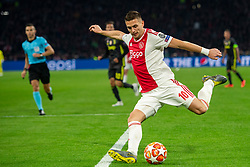 10-04-2019 NED: Champions League AFC Ajax - Juventus,  Amsterdam<br /> Round of 8, 1st leg / Ajax plays the first match 1-1 against Juventus during the UEFA Champions League first leg quarter-final football match / Dusan Tadic #10 of Ajax