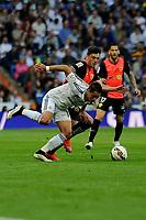 Real Madrid´s Chicharito and Almeria's  during 2014-15 La Liga match between Real Madrid and Almeria at Santiago Bernabeu stadium in Madrid, Spain. April 29, 2015. (ALTERPHOTOS/Luis Fernandez)
