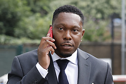 © Licensed to London News Pictures. 03/09/2021. London, UK. Musician Dizzee Rascal arrives at Croydon Magistrates Court. The English MC, rapper, songwriter and record producer is facing an assault charge after an incident at a house in Streatham on 08/06/2021. The Metropolitan Police said officers attended and that a woman reported minor injuries. Photo credit: Peter Macdiarmid/LNP