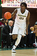 WACO, TX - DECEMBER 17: Taurean Prince #21 of the Baylor Bears brings the ball up court against the New Mexico State Aggies on December 17, 2014 at the Ferrell Center in Waco, Texas.  (Photo by Cooper Neill/Getty Images) *** Local Caption *** Taurean Prince