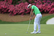 Bryson DeChambeau (USA) on the 13th green during the 1st round at the The Masters , Augusta National, Augusta, Georgia, USA. 11/04/2019.<br /> Picture Fran Caffrey / Golffile.ie<br /> <br /> All photo usage must carry mandatory copyright credit (© Golffile | Fran Caffrey)
