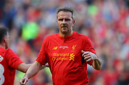 Dietmar Hamann of Liverpool legends team looks on. Liverpool Legends  v Real Madrid Legends, Charity match for the LFC Foundation at the Anfield stadium in Liverpool, Merseyside on Saturday 25th March 2017.<br /> pic by Chris Stading, Andrew Orchard sports photography.