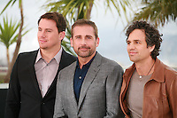 Channing Tatum, Steve Carell and Mark Ruffalo at the photo call for the film Foxcatcher at the 67th Cannes Film Festival, Monday 19th May 2014, Cannes, France.