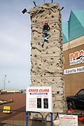 Speed Climb climbing wall challenge game, Great Yarmouth, Norfolk, England
