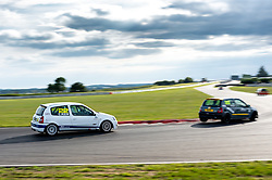 Christopher Keir pictured competing in the 750 Motor Club's Clio 182 Championship. Image captured at Snetterton on July 18, 2020 by 750 Motor Club's photographer Jonathan Elsey