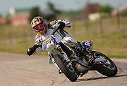 Supermoto racing at McArthur Park raceway in Oklahoma City