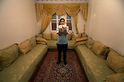 Unveiled soccer .Boukhami Siham , the goalkeeper of NASIM is photographed   at her home .A work about women's soccer in Moroco on the year of the first world cup in Africa . Wednesday , 13th January 2010 ,  Sidi-Moumen , outskirts of Casablanca , Morocco. (Photo Joao Henriques )
