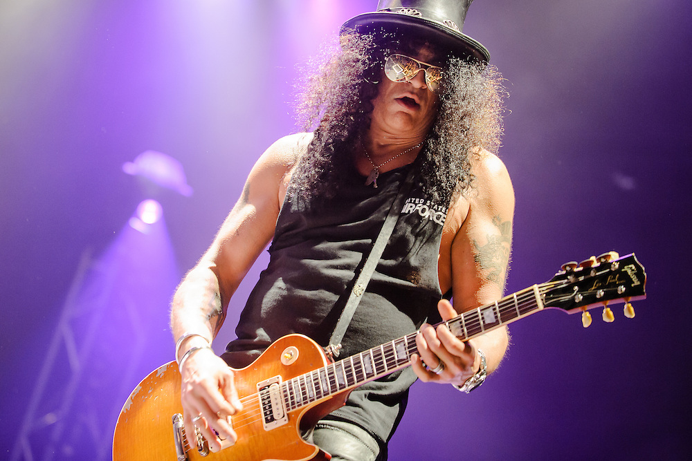Slash featuring Myles Kennedy and The Conspirators performing live at the Rockhal concert venue in Luxembourg, Europe on July 5, 2010