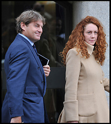 Rebekah Brooks, former News International chief executive and Charlie Brooks Leave the Old Bailey for a preliminary hearing as Eight are charged over alleged News of the World phone hacking, Charlie brooks is Charged in connection to perverting the course of justice - plea and case management hearing, London, Wednesday September 26, 2012 Photo Andrew Parsons / i-Images..