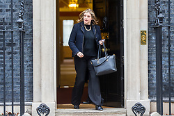 © Licensed to London News Pictures. 15/01/2019. London UK. Penny Mordaunt leaves number 10 after this morning's cabinet meeting ahead of todays vote on the Theresa May's Brexit deal. Photo credit: Andrew McCaren/LNP