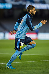 October 7, 2017 - Melbourne, Victoria, Australia - Milos Ninkovic (#10) of Sydney FC warms up before the round 1 match between Melbourne Victory and Sydney FC at Etihad Stadium in Melbourne, Australia during the 2017/2018 Australian A-League season. (Credit Image: © Theo Karanikos via ZUMA Wire)