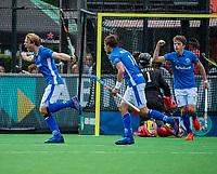 BLOEMENDAAL - Jip Janssen (Kampong) brengt de stand op1-2.    tijdens finale van de play-offs om de Nederlandse titel, Bloemendaal tegen titelhouder Kampong (1-2). Door de overwinning van Kampong volgt er zondag een derde wedstrijd.   COPYRIGHT KOEN SUYK