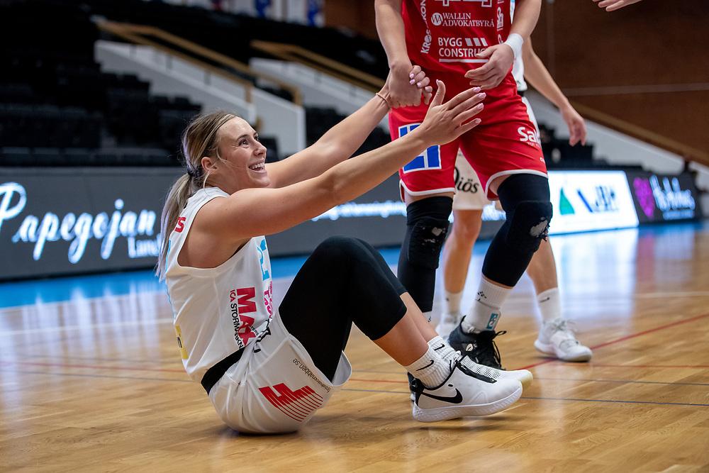 ÖSTERSUND 20210925<br /> Östersunds Mehryn Kraker under lördagens match i Basketligan mellan Östersund Basket och Uppsala Basket i Östersunds Sporthall<br /> <br /> Foto: Per Danielsson/Projekt.P