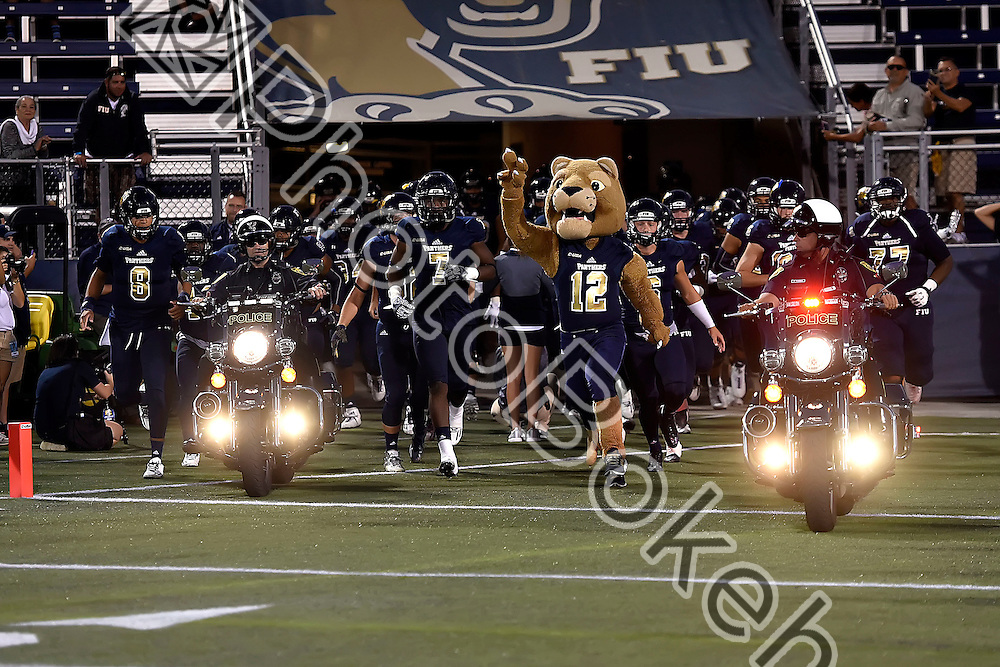2016 October 22 - FIU's Football Team. <br /> Florida International University fell to Louisiana Tech, 24-44, at Ocean Bank Field, Miami, Florida.  (Photo by: Alex J. Hernandez / photobokeh.com) This image is copyright by PhotoBokeh.com and may not be reproduced or retransmitted without express written consent of PhotoBokeh.com. ©2016 PhotoBokeh.com - All Rights Reserved