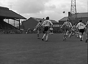 F.A.I. Cup Final at Dalymount Park.   (N71).1981..20.04.1981..04.20.1981..20th April 1981..Today saw the FAI  Cup Final played out at Dalymount Park between Sligo Rovers and Dundalk...Dundalk: Blackmore, McConville, Dunning, Keely, Lawlor, McKenna, Flanagan, Byrne, Crawley, Fairclough, Archbold...Sligo: McIntrye, Ferry, O'Doherty, Sheridan, McGeever, McGroarty, Fagan, Doherty, McLoughlin, Bradley, Patton. Subs: Coyle for Patton, McDonnell...The match was won by Dundalk by a two nil margin. The winning goals were scored by John Archbold and Mick Fairclough..Following are a series of action pictures of the match.