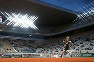 Stefanos TSITSIPAS (GRE) during the Roland Garros 2020, Grand Slam tennis tournament, on October 9, 2020 at Roland Garros stadium in Paris, France - Photo Stephane Allaman / ProSportsImages / DPPI