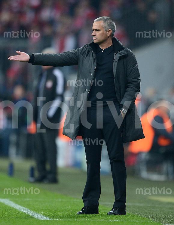 FUSSBALL   CHAMPIONS LEAGUE  HALBFFINAL HINSPIEL   2011/2012      FC Bayern Muenchen - Real Madrid          17.04.2012 Trainer Jose Mourinho (Real Madrid)