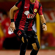 Eskisehirspor's Erkan Zengin during their UEFA Europa League third Qualifying round first leg soccer match Eskisehirspor between Olympique Marseille at Ataturk stadium in Istanbul Turkey on Thursday 02 August 2012. Photo by TURKPIX
