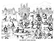 Parliamentary Indian Exhibition. (a Victorian cartoon shows British members of parliament on a trip to India)