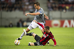 September 20, 2018 - Trnava, SLOVAKIA - Anderlecht's Ivan Santini and Spartak's midfielder Erik Jirka fight for the ball during a match between Belgian soccer team RSC Anderlecht and Slovakian club Spartak Trnava, Thursday 20 September 2018 in Trnava, Slovakia, on day one of the UEFA Europa League group stage. BELGA PHOTO JASPER JACOBS (Credit Image: © Jasper Jacobs/Belga via ZUMA Press)