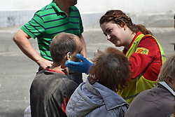 July 8, 2017 - Kiev, Kiev, Ukraine - Consequences of gas explosion in an apartment building, causing at least two deaths, drawing hundreds of emergency responders. (Credit Image: © Alexandr Gusew/Pacific Press via ZUMA Wire)