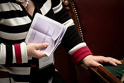 Roma 20.04.2013 - Camera dei Deputati. Il Parlamento è riunito in seduta comune per eleggere il successore di Giorgio Napolitano come Presidente della Repubblica. Nella Foto: SChede a favore di Rodotà. Foto Giovanni Marino