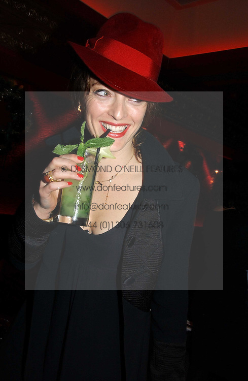 ALICE TEMPERLEY at a party hosted by Camilla Al Fayed, Charlotte Stockdale and Patrick Cox in aid of the Evelina Children's Hospital Trust held at th Burlington Club, New Burlington Street, London on 12th December 2006.<br /><br />NON EXCLUSIVE - WORLD RIGHTS