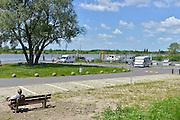Nederland, Wijhe, 4-6-2013De vernieuwde jachthaven en camperplaats van het dorp aan de IJssel.Foto: Flip Franssen/Hollandse Hoogte