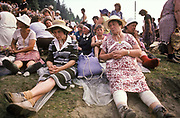 Pilgrims take a lunch break after covering 30 kms / day on their way to pay their respects to the Black Madonna at Jasna Gora Monastery, Czestochowa, Poland
