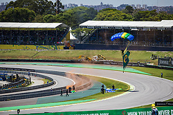 November 12, 2017 - Sao Paulo, Sao Paulo, Brazil - Nov, 2017 - Sao Paulo, Sao Paulo, Brazil - Show of parquedismo of the Brazilian army before the Great Prize Brazil of Formula One in the autodromo track of Interlagos in Sao Paulo. (Credit Image: © Marcelo Chello via ZUMA Wire)