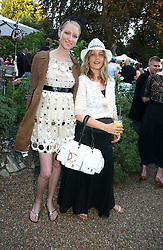 Left to right, JADE PARFITT and BAY GARNETT at a party to celebrate Stephen Jones's 25 Years of Millinery held at Debenham House, 8 Addison Road, London W14 on 13th July 2006.<br /><br />NON EXCLUSIVE - WORLD RIGHTS
