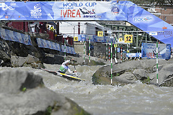 September 1, 2017 - Ivrea, Italy - The first day of qualifying matches were held today at the stadium of the canoe of Ivrea of the world championships of canoeing and kayaking, the fourth stage of the ICF World Cup 2017. (Credit Image: © Tonello Abozzi/Pacific Press via ZUMA Wire)