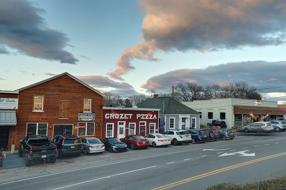 The downtown area of Crozet, Va.  Photo/Andrew Shurtleff Photography, LLC