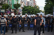 Police block demonstrators and mourners in the western Turkish city of Soma, close to the mine where almost 300 workers have been killed in an explosion.
