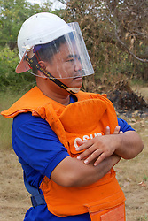 Aki Ra Observing Demining Operations