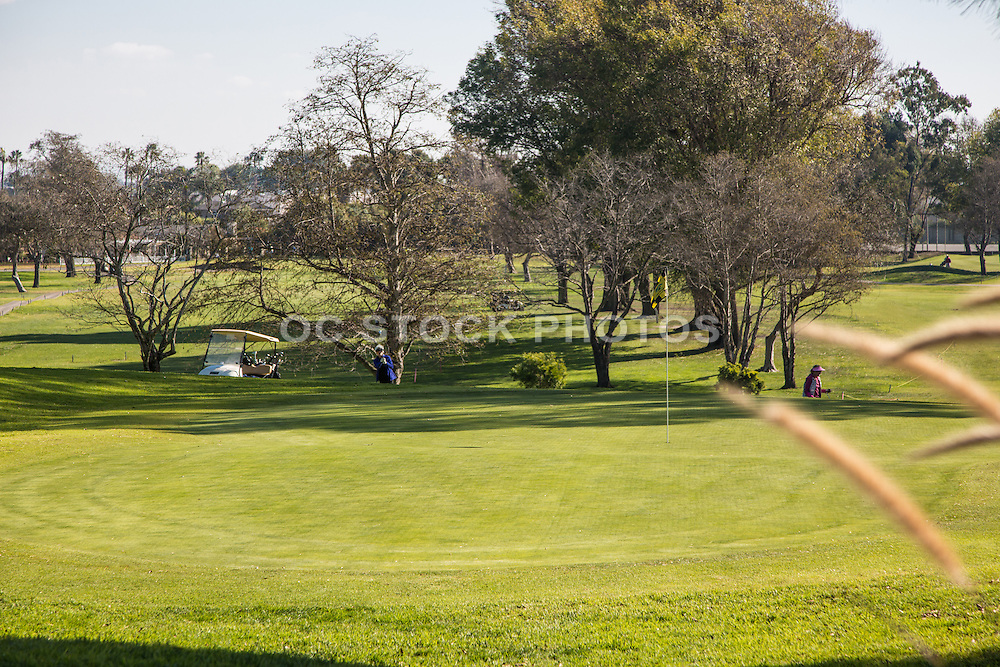 Golfing at Meadowlark Golf Club in Huntington Beach California