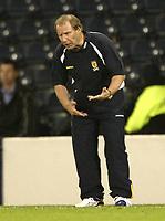 Fotball<br /> 08.09.2004<br /> Skottland v Slovenia<br /> Foto: SBI/Digitalsport<br /> NORWAY ONLY<br /> <br /> Things go wrong again for Berti Vogts