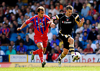 Photo: Alan Crowhurst.<br />Crystal Palace v Charlton Athletic. Coca Cola Championship. 01/09/2007. Charlton's Darren Ambrose (R) challenges with Carl Fletcher