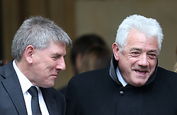 Peter Beardsley and Kevin Keegan outside St Luke's and Christ Church, London, where the memorial service for former Chelsea player Ray Wilkins is being held. Wilkins, who began an impressive playing career at Stamford Bridge and also later coached them, died aged 61 following a cardiac arrest.